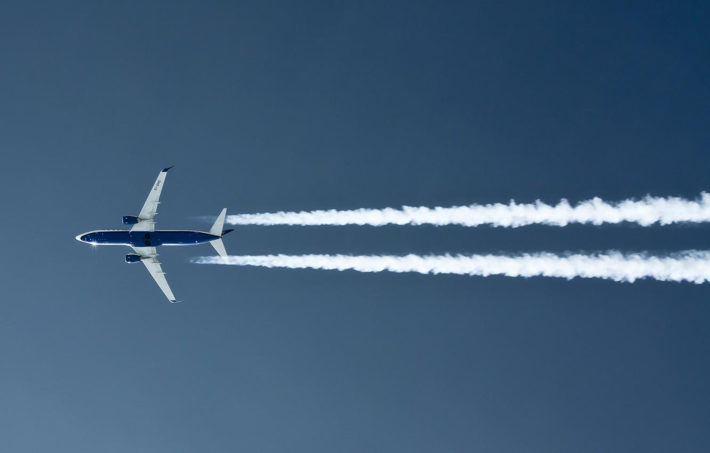 Обои дымовой след, Самолёт. Авиация foto 6