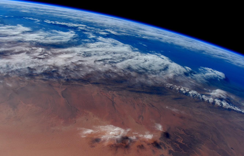 Фото обои космос, фон, планета