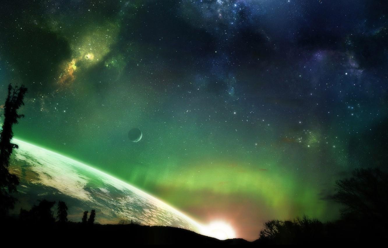 Фото обои космос, вселенная, планеты