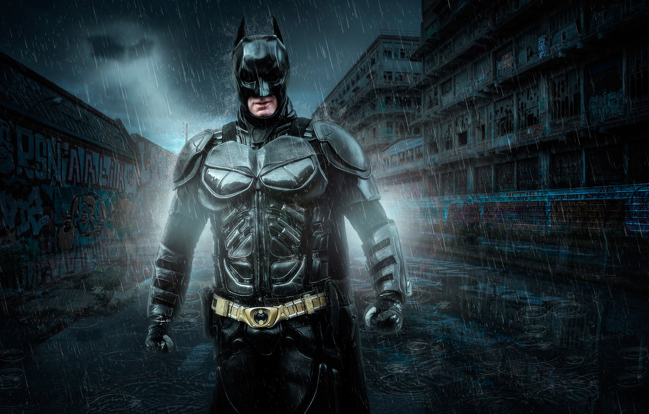 Фото обои Photoshop, Batman, Lightroom, Super Hero, по мотивам комикса, dark knights