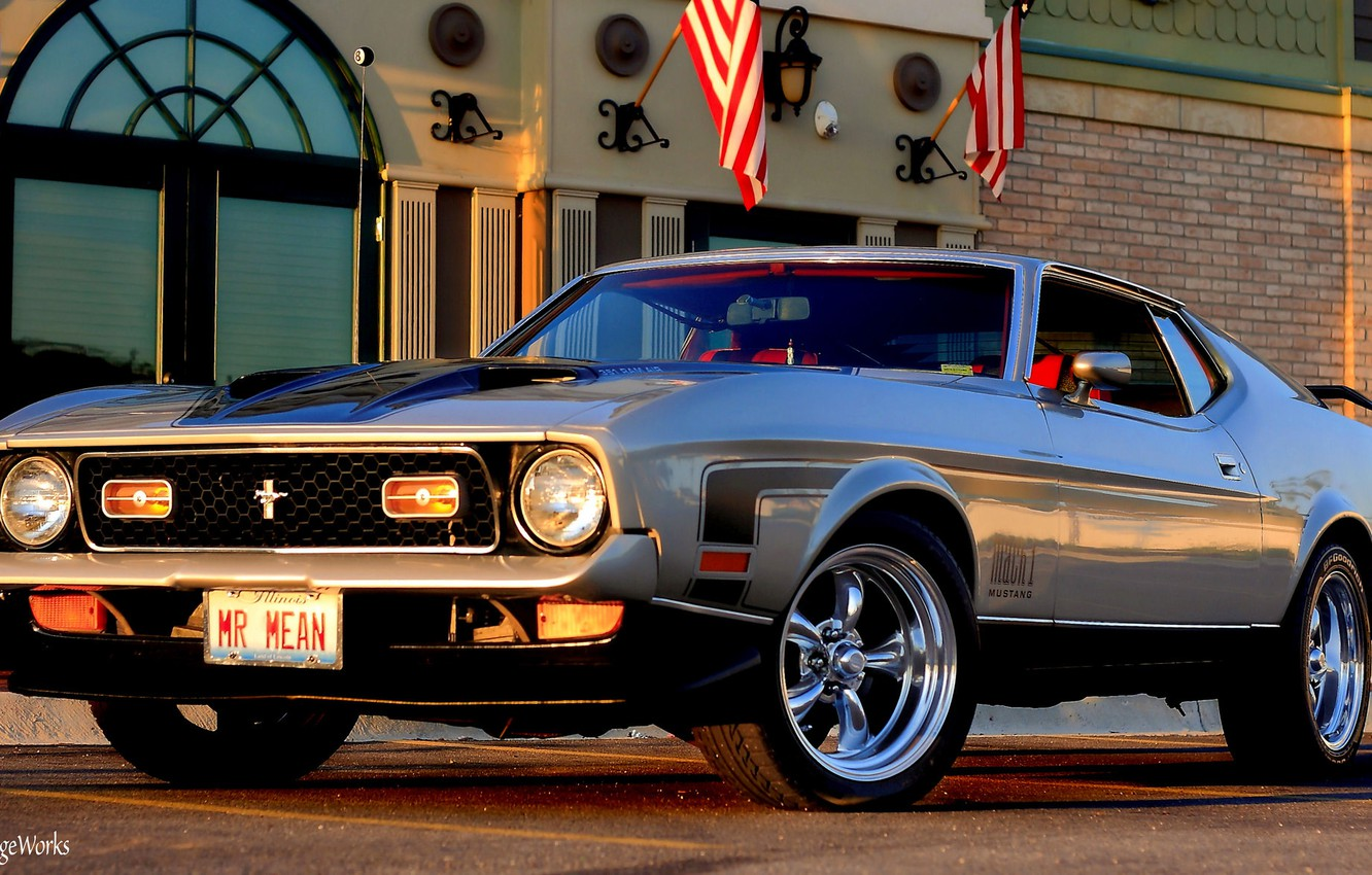 Фото обои Mustang, Ford, 1971 Ford Mustang
