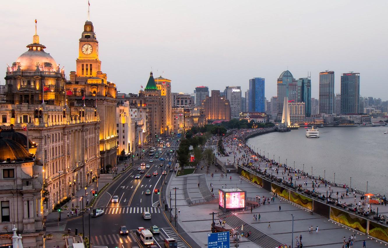 Обои небоскребы, китай, дома, улицы, шанхай, дороги. Города foto 17
