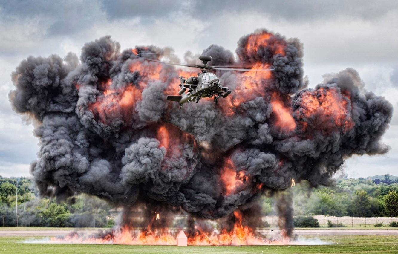 Обои ударный, Apache, дым, основной, «апач». Авиация foto 9