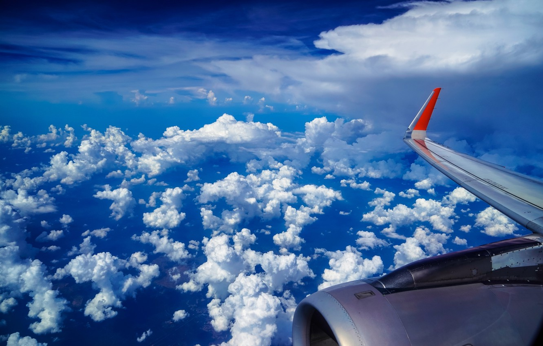 Обои Облака, Самолёт, красиво, 2015. Авиация foto 12