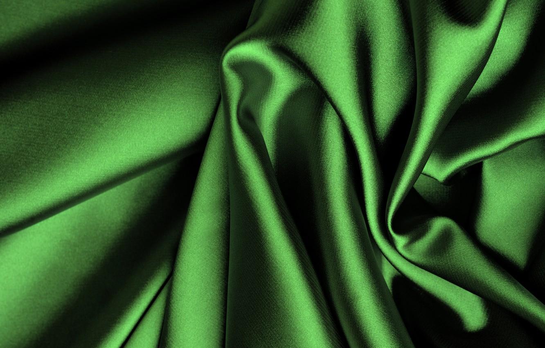 Фото обои зеленый, шелк, ткань, складки, сатин