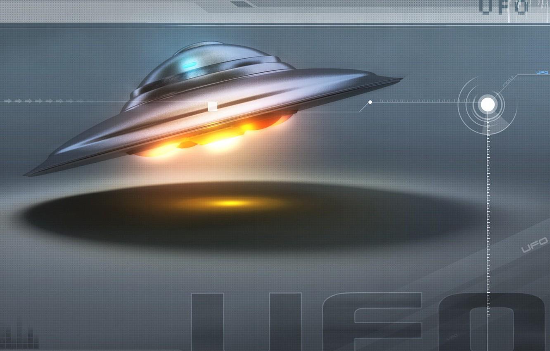 Фото обои космос, нло, тарелка, ufo