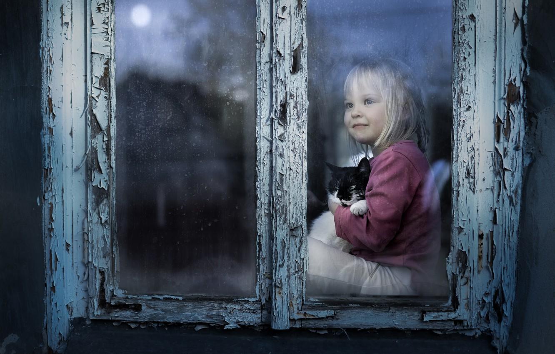 Обои настроение, Девочка, окно. Разное foto 8