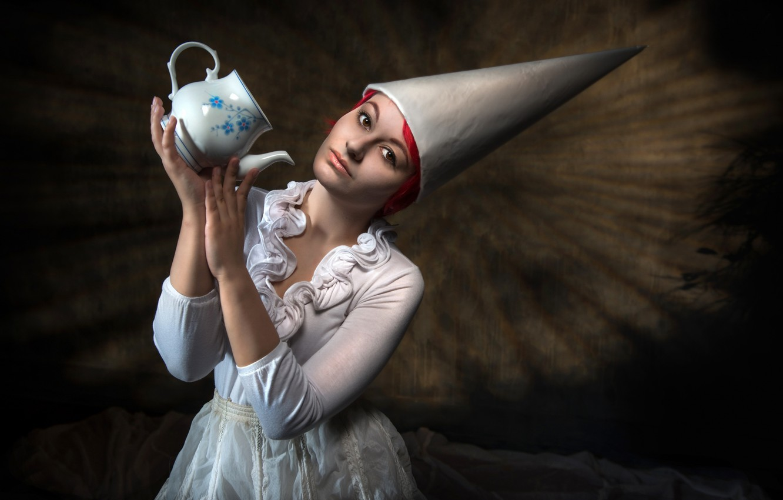 Фото обои девушка, чайник, Untold Dream