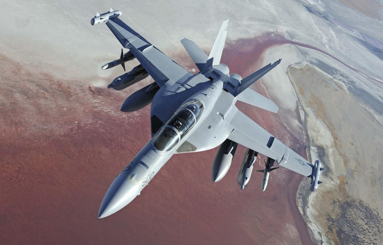 Обои Boeing ea-18, growler, Самолёт, палубный. Авиация foto 7
