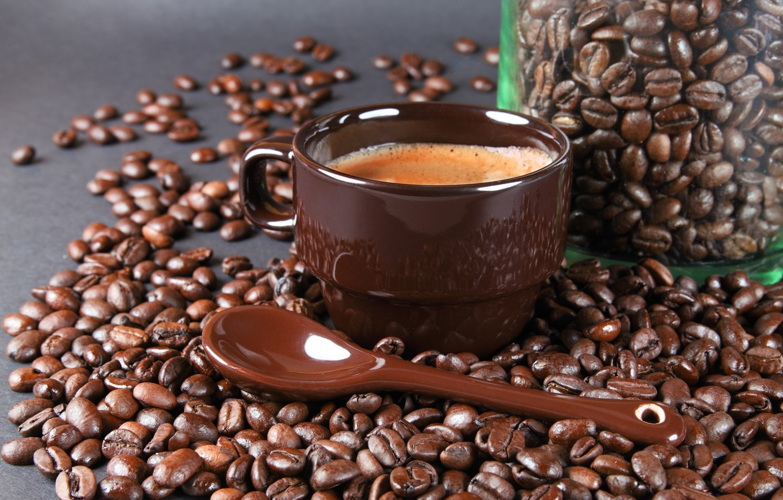 Обои кофе, зерна, стол, ложка. Разное foto 6