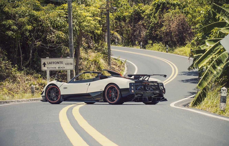 Фото обои Roadster, Pagani, Zonda, Суперкар, Road, Supercar, Пагани, Зонда, Cinque