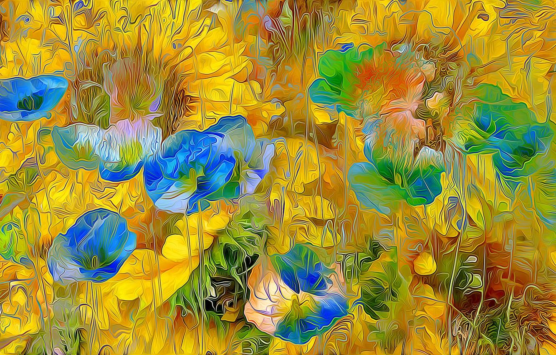 Обои луг, цветы. Абстракции foto 9