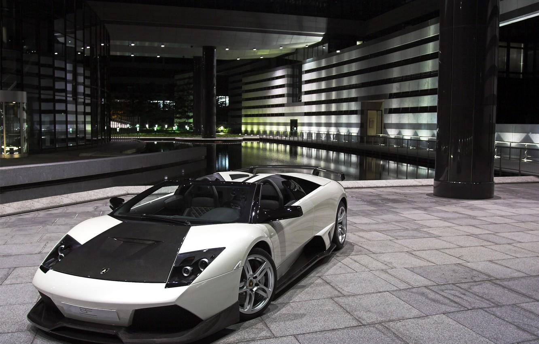 Фото обои серый, lamborghini, supercar