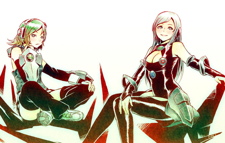 Фото обои девушки, аниме, Fanart Console Cosplay, Mike inel, консоли