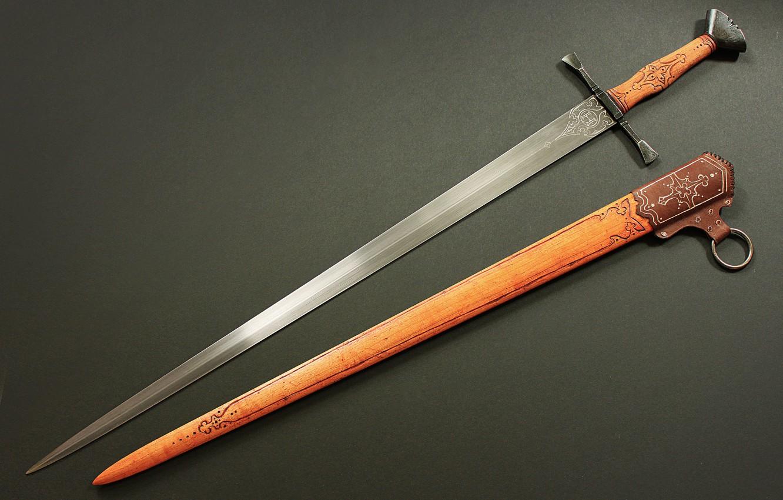 Фото обои фон, сталь, меч, рукоятка