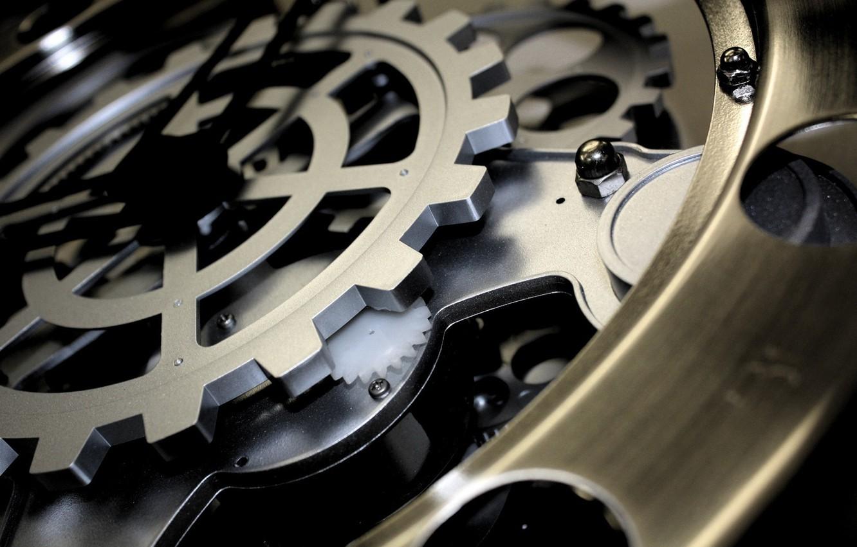 Фото обои часы, механизм, шестеренки