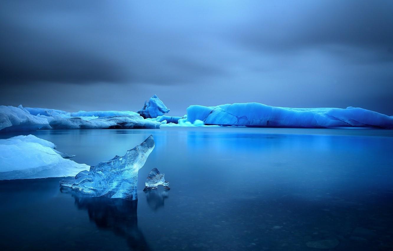 Фото обои лед, море, небо, вода, снег, озеро, Зима, ice, сумерки, twilight, sea, water, winter, lake, snow, …