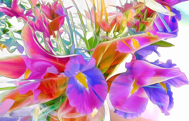 Обои краски, цветы. Абстракции foto 8