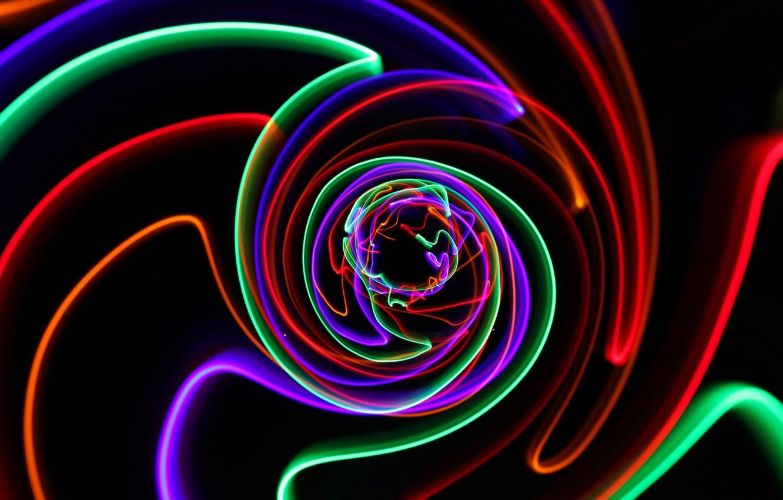 Обои свет, спираль, Цвет. Абстракции foto 13