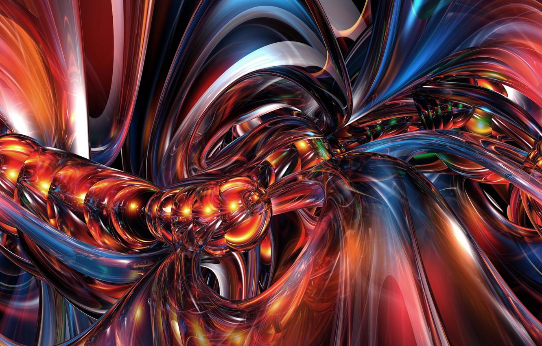 Обои фракталы, Фрактальный узор, свечение. Абстракции foto 8