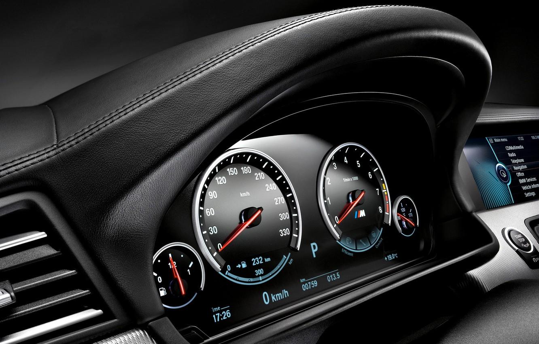 Фото обои BMW, приборная панель, F10