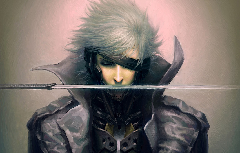 Фото обои меч, повязка, мужчина