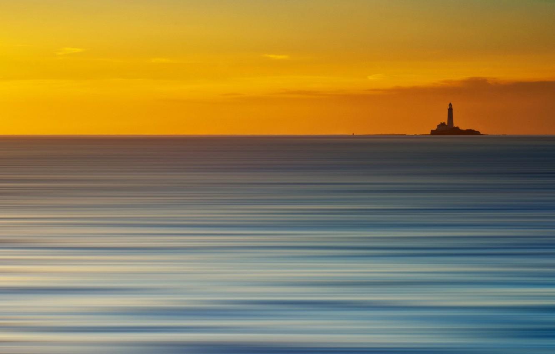 Фото обои море, стиль, фон, маяк
