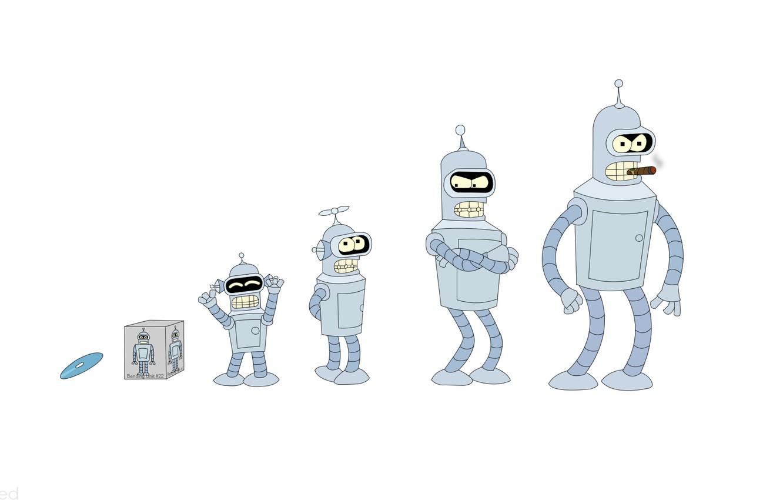 Фото обои Футурама, Futurama, Bender Bendering Rodrigez, Бендер Сгибальщик Родригес