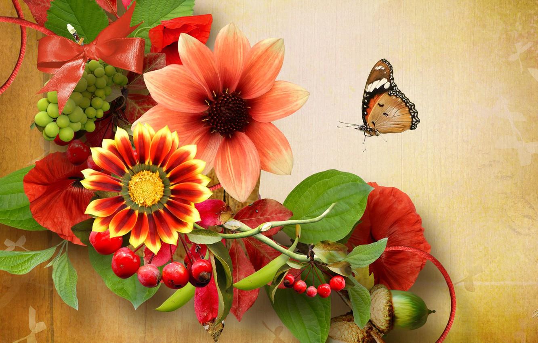 Обои цветы, Коллаж. Разное foto 13