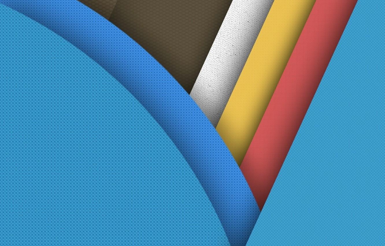 Фото обои белый, линии, желтый, фон, розовый, голубой, круг, текстура, Android, коричневый