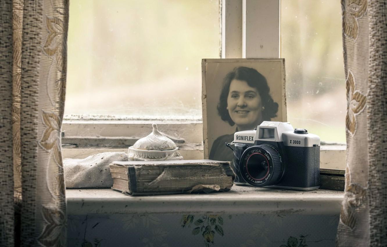 Фото обои макро, фон, камера
