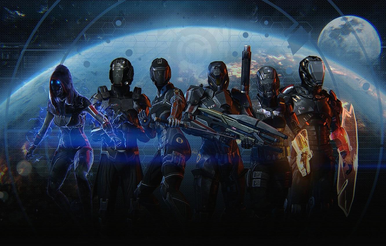 Фото обои Тень, Earth, Паладин, Убийца, Mass effect, Фурия, Разрушитель, Сокрушитель