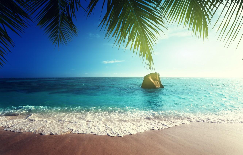 Фото обои песок, море, пляж, солнце, тропики, океан, берег, остров, summer, beach, sea, ocean, coast, paradise, tropical, …