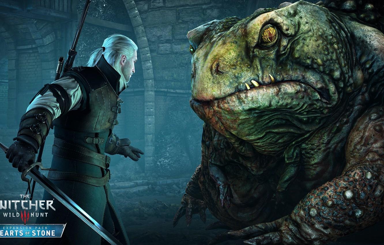 Фото обои ведьмак, DLC, Геральт из Ривии, The Witcher 3: Wild Hunt, дополнение, Hearts of Stone, Каменны …
