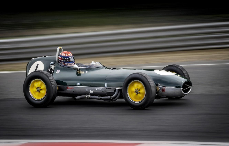 Фото обои машина, гонка, Lotus 18