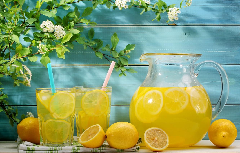 Фото обои лето, цветы, напиток, fresh, лимоны, лимонад, lemons, lemonade