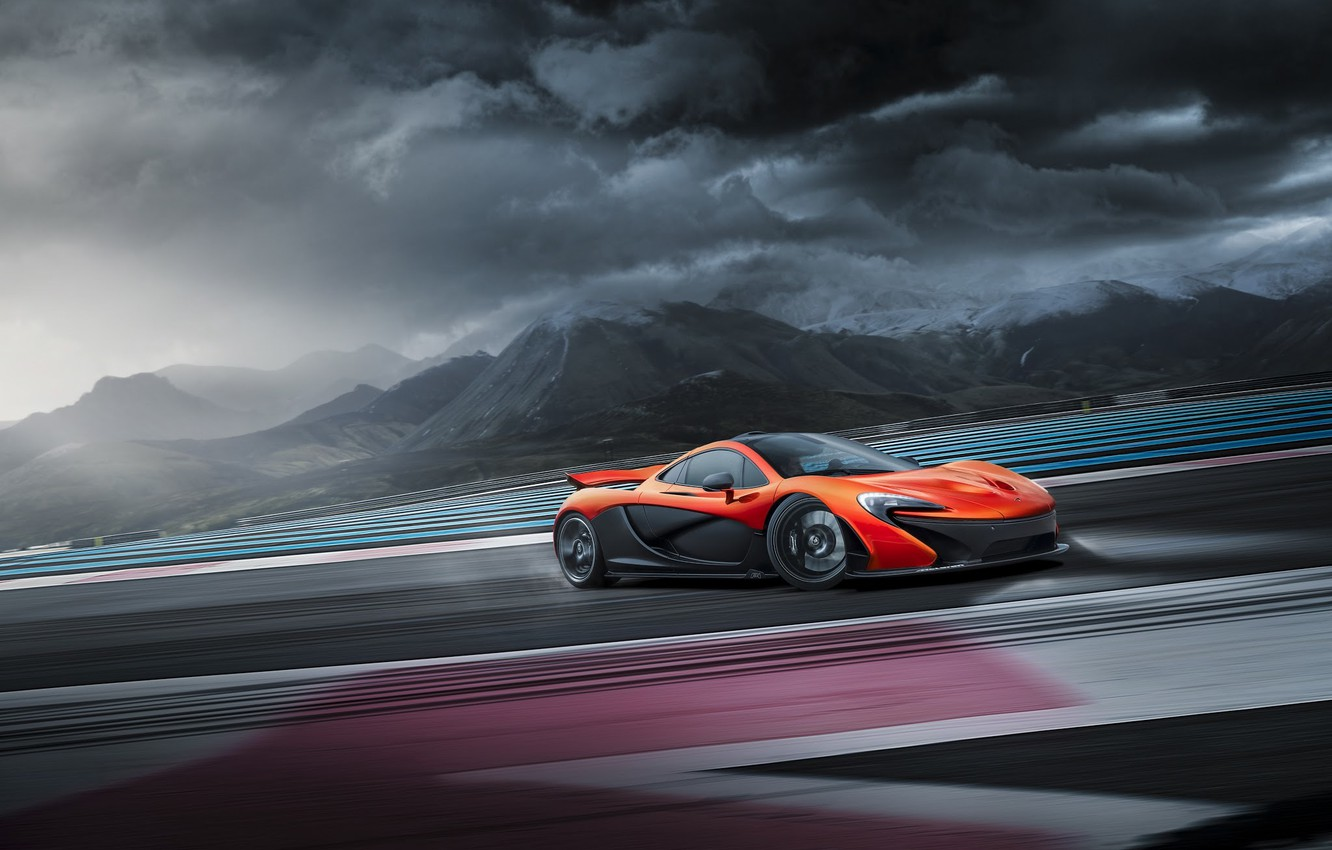 Обои supercar, Race, ligth, nigth, orange, Mclaren, doors, Track. Автомобили foto 15