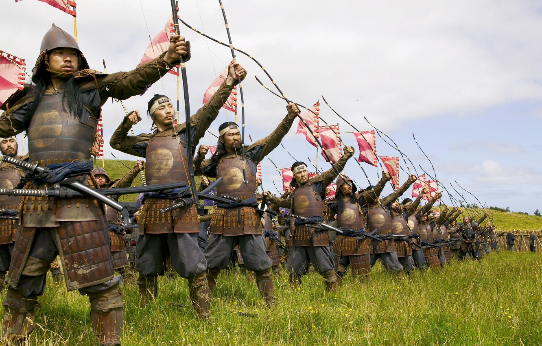 Фото обои битва, драма, самураи, лучники, The Last Samurai, Последний Самурай