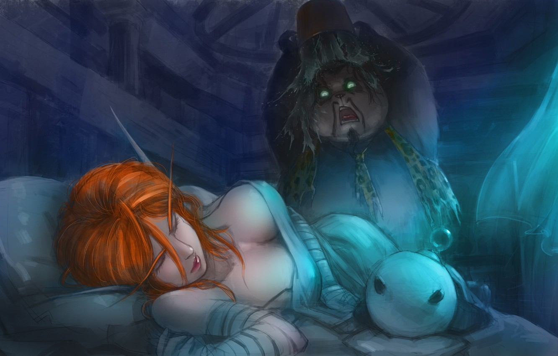 Фото обои фентези, игра, арт, панда, World of Warcraft, Wow