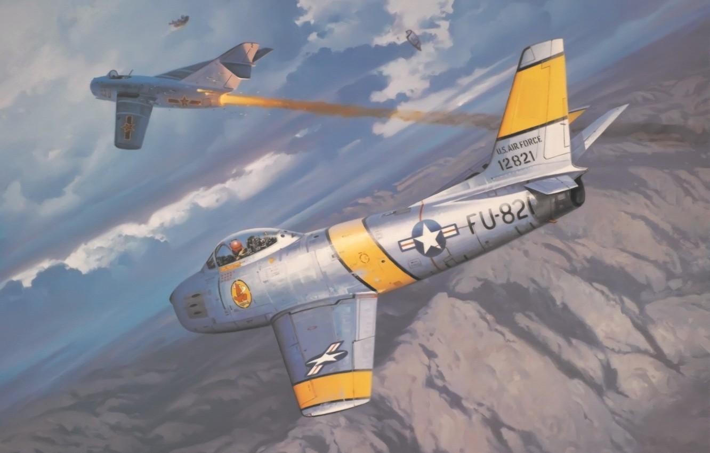 Обои F-86 Sabre, Самолёт. Авиация foto 11