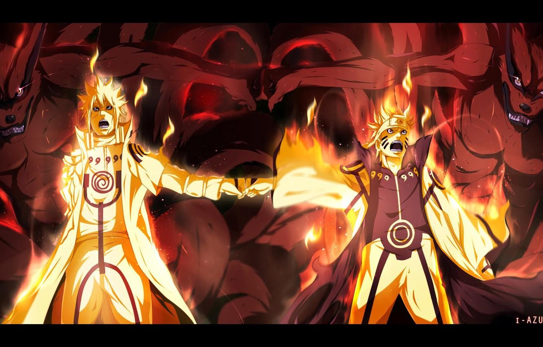 Фото обои Naruto, Anime, Flame, Ninja, Uzumaki, Naruto Shippuden, Minato, Blonde Hair, Manga, Bijuu Dama, Chakra, Bijuu …