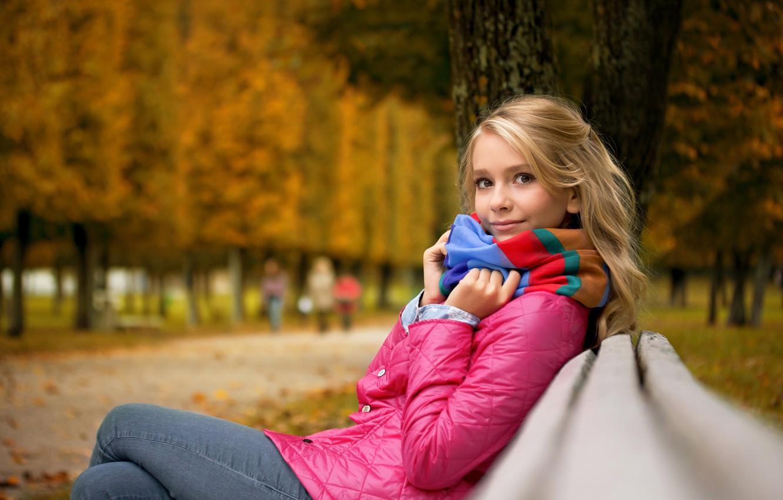 Фото обои парк, настроение, девочка