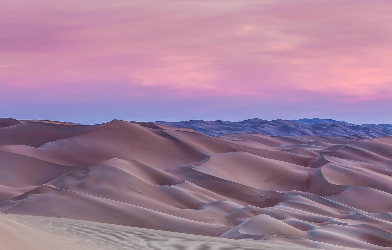 Фото обои пейзаж, пустыня, дюны