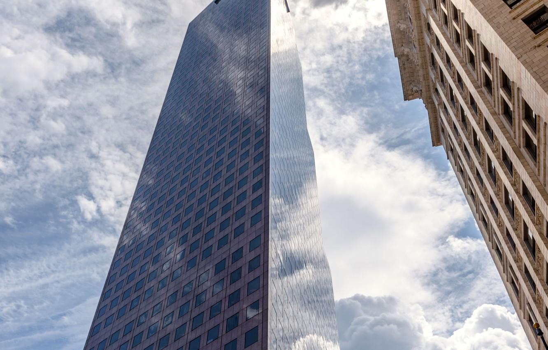 Обои Облака, здания, стекло, небоскребы. Города foto 11