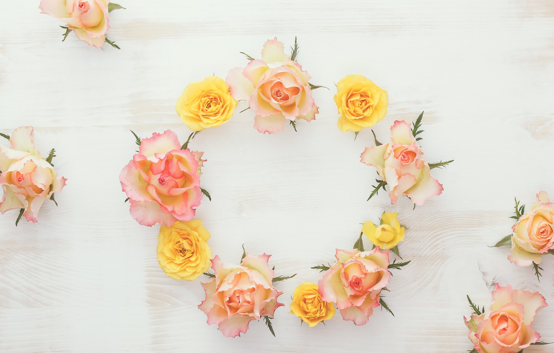 Фото обои wood, flowers, roses