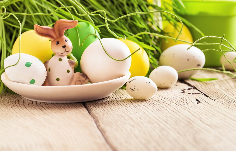 Фото обои трава, цветы, яйца, весна, Пасха, flowers, spring, Easter, eggs, decoration, Happy