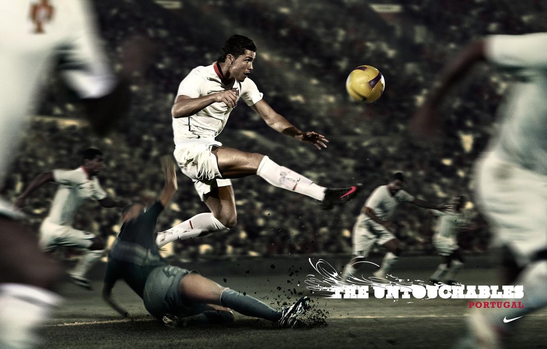 Фото обои футбол, Португалия, Cristiano Ronaldo