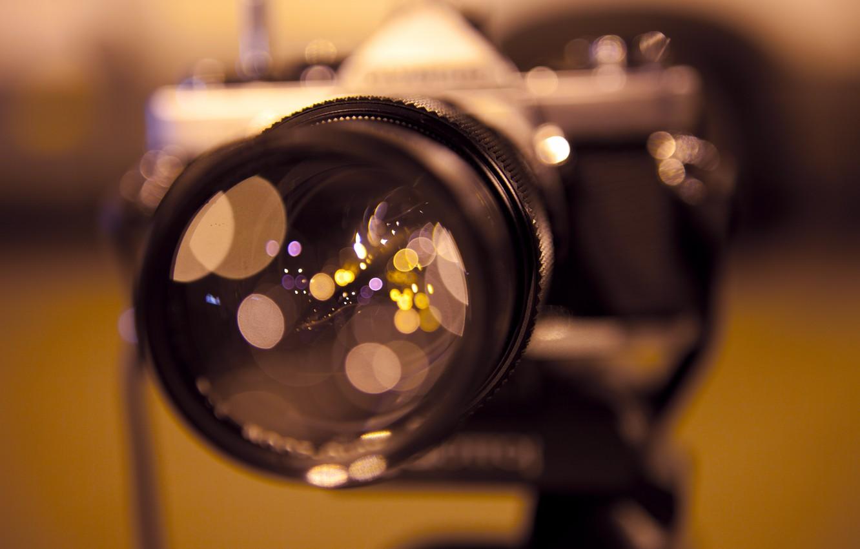 Фото обои макро, блики, отражение, фокус, фотоаппарат, объектив, Camera