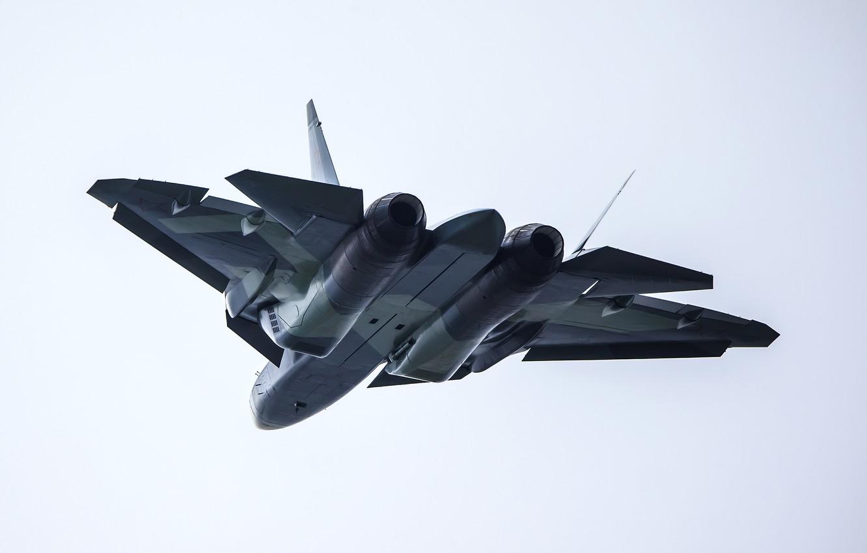 Обои Пятого поколения, многоцелевой, ПАК ФА Т-50, Самолёт, сверхзвуковой, Владислав Перминов, истребитель. Авиация foto 8