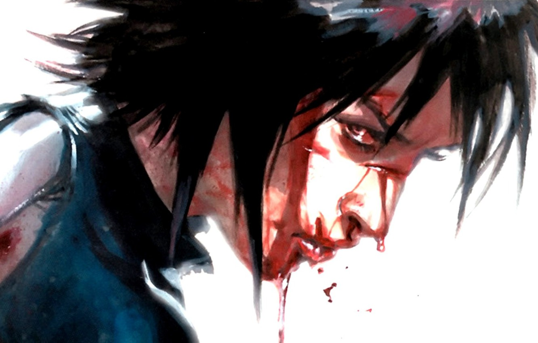 Фото обои взгляд, девушка, кровь, Marvel Comics, Domino